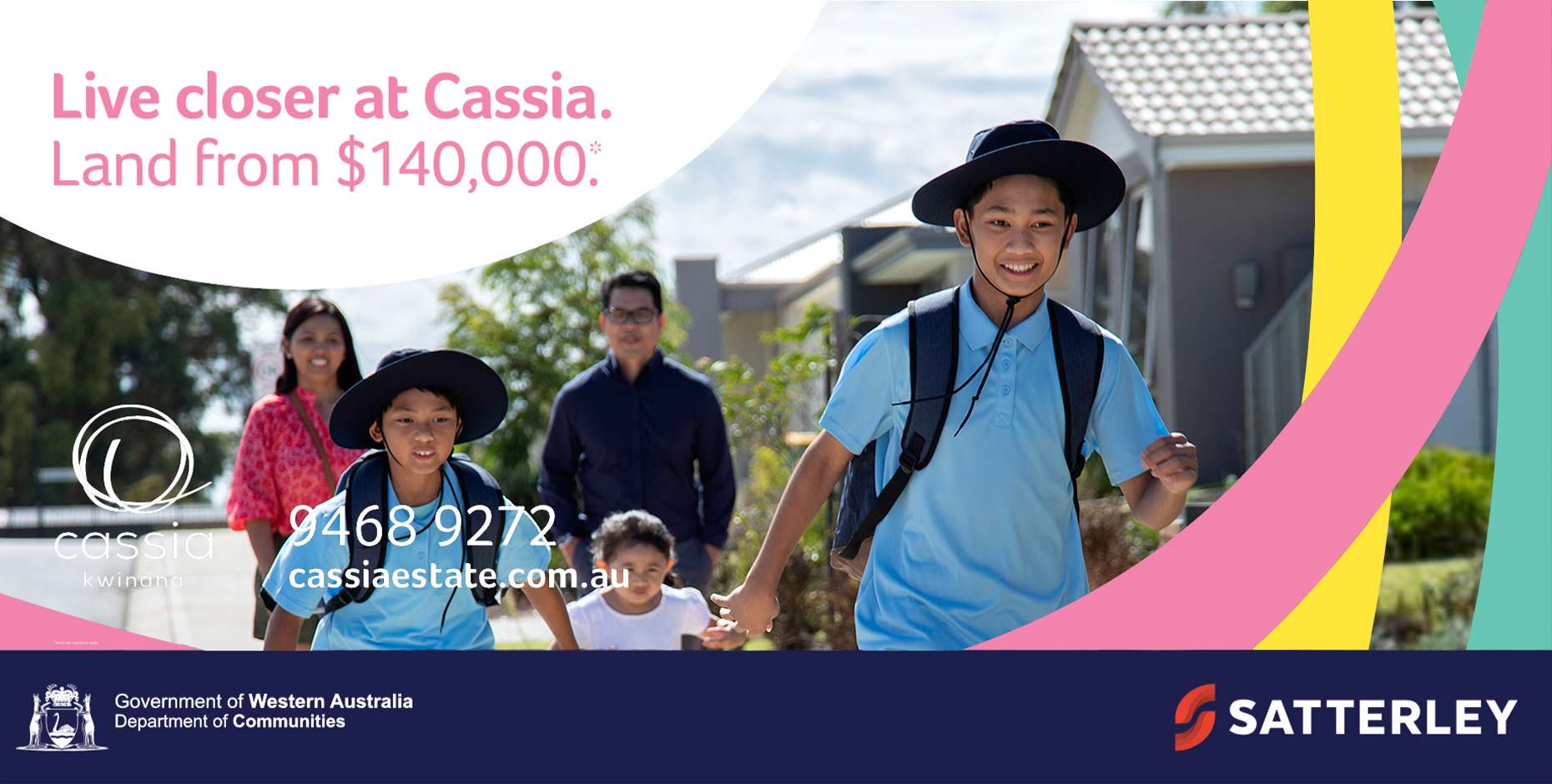 Cassia Rise Housing estate billboard advertisement