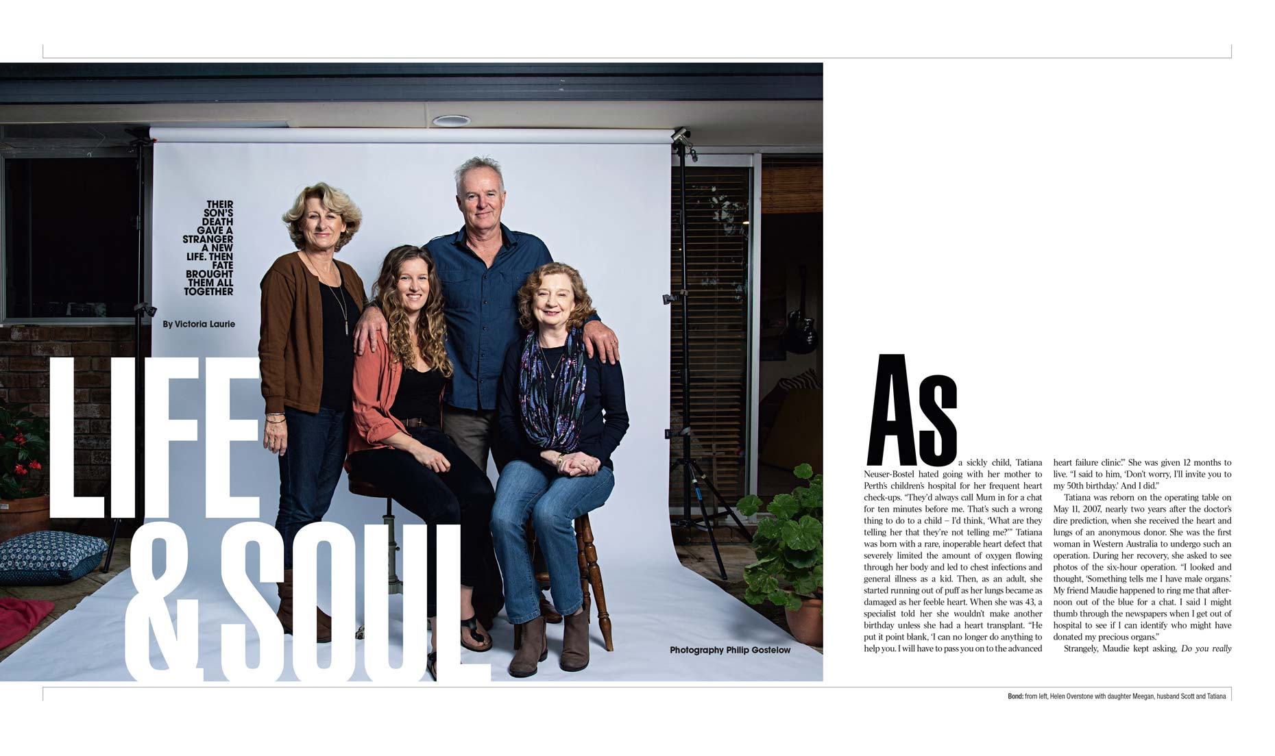 The Weekend Australian Magazine - cover story - The Gift - double page spread