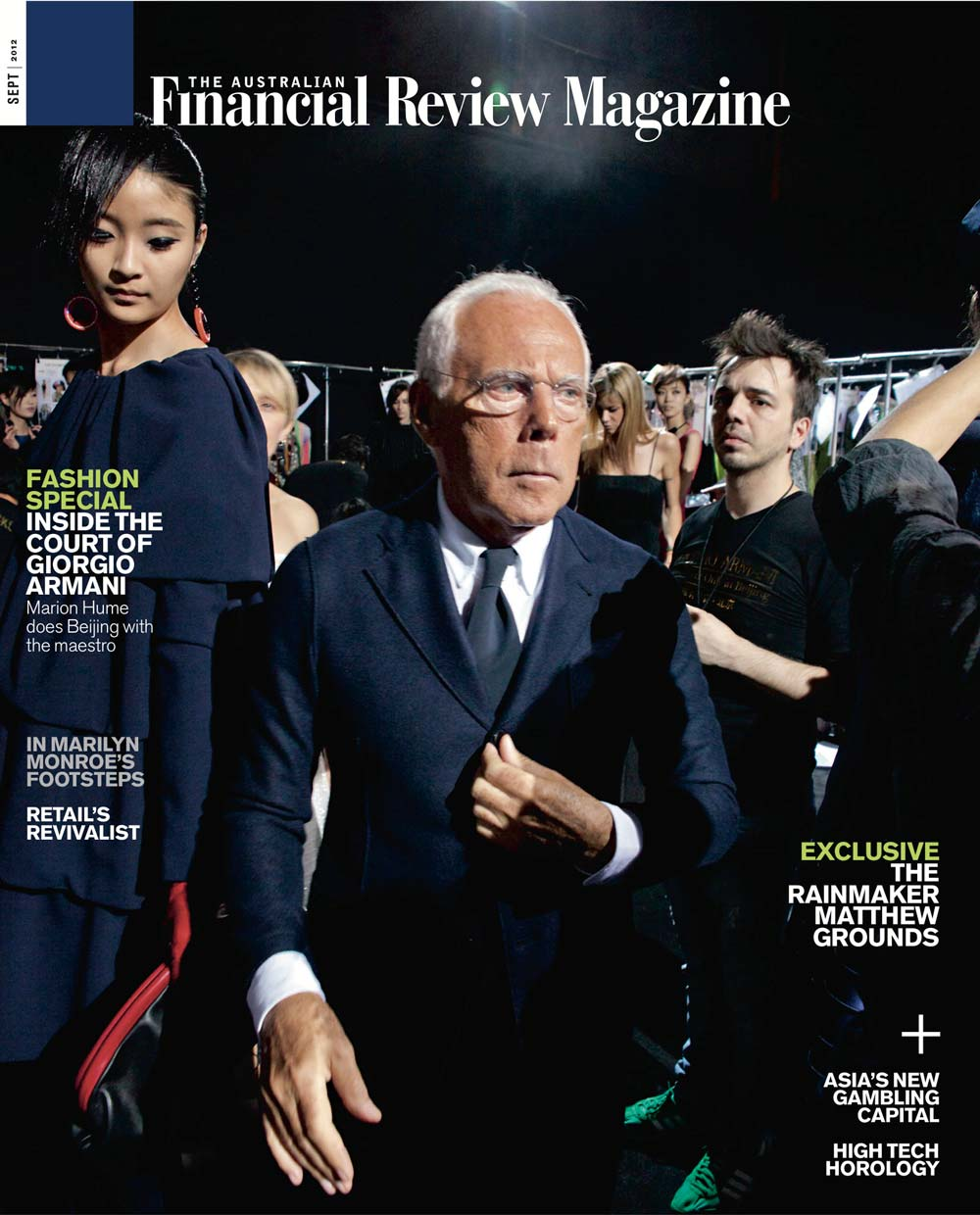 The Australian Financial Review Magazine - Giorgio Armani cover feature - August 2012