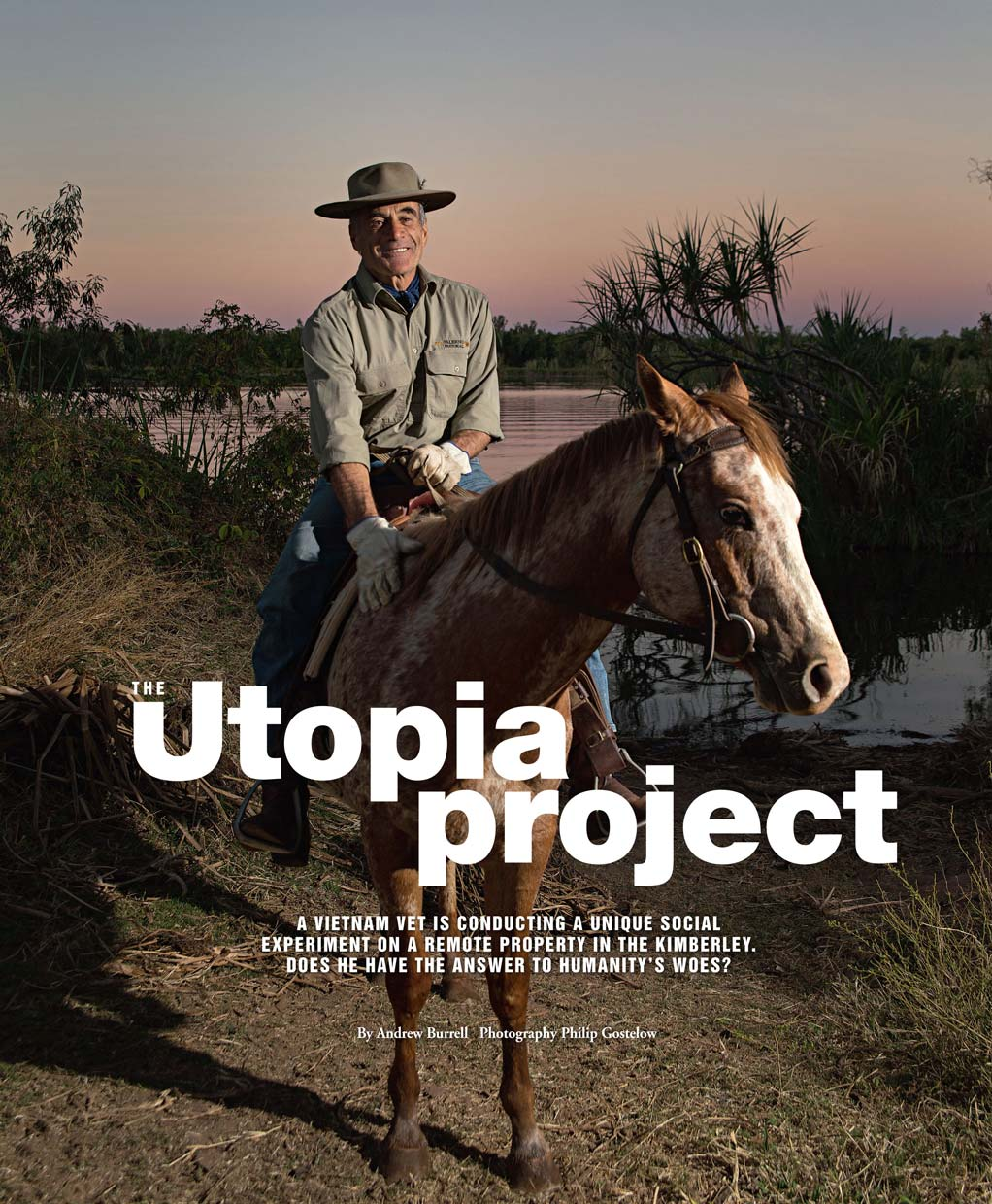 Weekend Australia Magazine - Utopia Project feature 2015